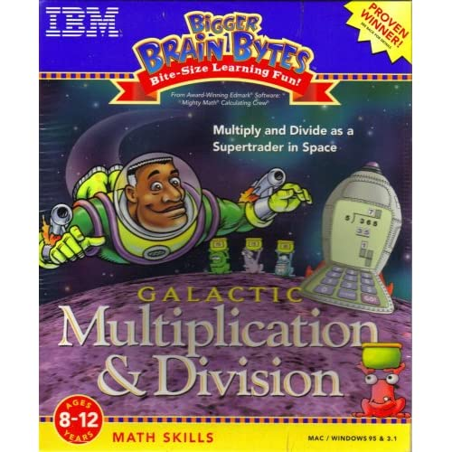 Image 0 of Galactic Multiplication & Division: Ages 8-12 Years Windows & Macintosh Software