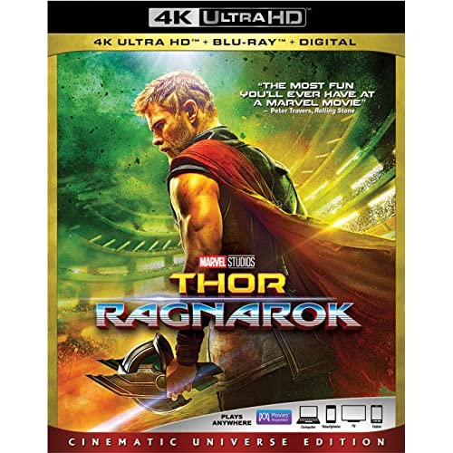 Image 0 of Thor: Ragnarok Blu-Ray On Blu-Ray With Chris Hemsworth