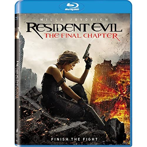 Resident Evil: The Final Chapter Blu-Ray On Blu-Ray With Milla