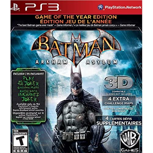 Batman: Arkham Asylum Game Of The Year Edition For PlayStation 3 PS3 With Manual