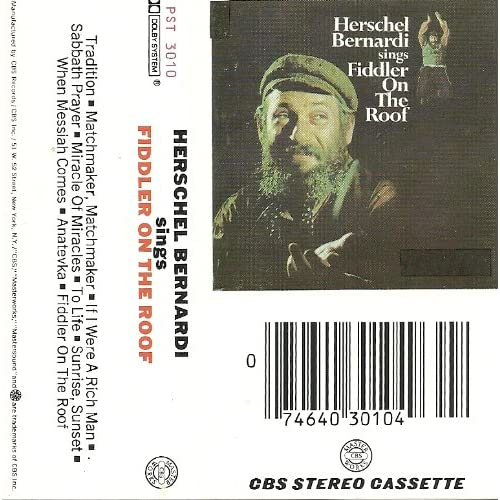 Image 0 of Herschel Bernardi Sings Fiddler On The Roof By Herschel Bernardi On Audio Casset
