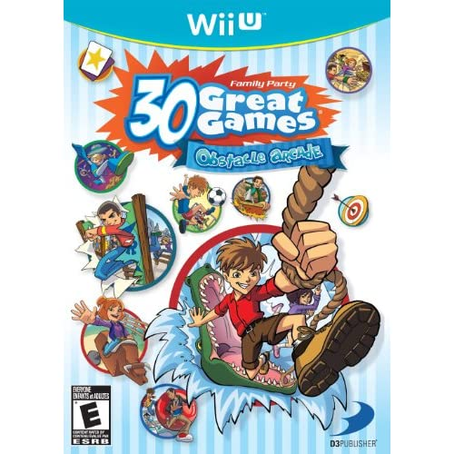 Family Party 30 Great Games: Obstacle Arcade For Wii U With Manual and Case