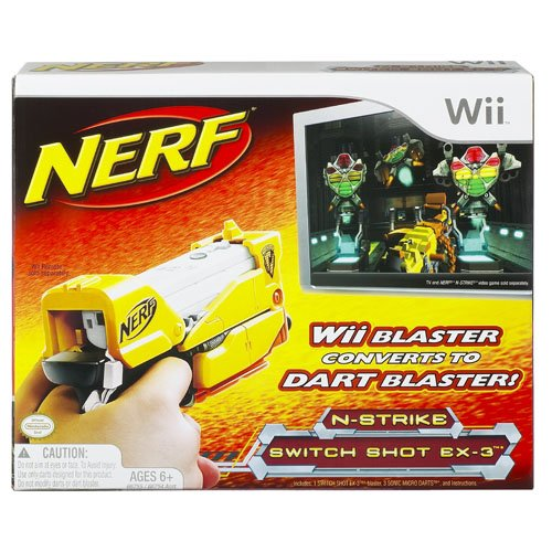 Image 0 of Nerf N-Strike Switch Shot EX-3 Yellow For Wii Motion Controller