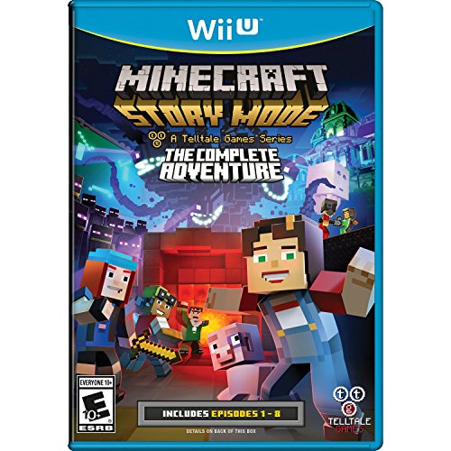 Minecraft: Story Mode The Complete Adventure For Wii U With Manual and Case