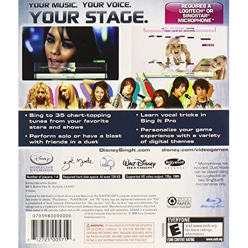 Image 2 of Sing It For PlayStation 3 PS3 Disney