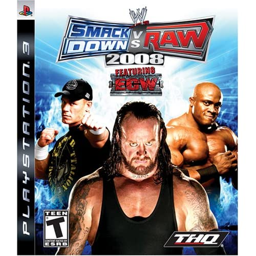 WWE Smackdown Vs Raw 2008 For PlayStation 3 PS3 Wrestling