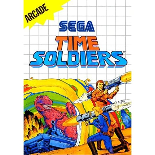 Time Soldiers System For Sega Master Vintage With Manual and Case