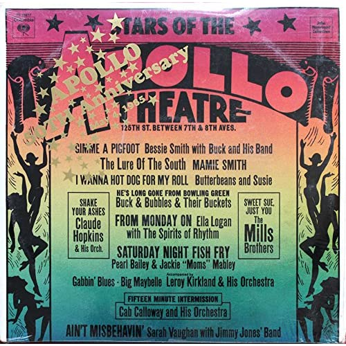 Stars Of The Apollo Theatre On Vinyl Record LP