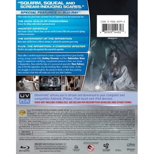 Image 2 of The Apparition Blu-Ray DVD Combo Pack On Blu-Ray With Ashley Greene
