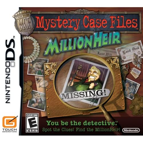 Image 0 of Mystery Case Files: MillionHeir For Nintendo DS DSi 3DS Trivia