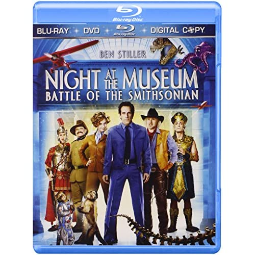 Image 0 of Night At The Museum: Battle Of The Smithsonian Three-Disc Blu-Ray/dvd/digital Co