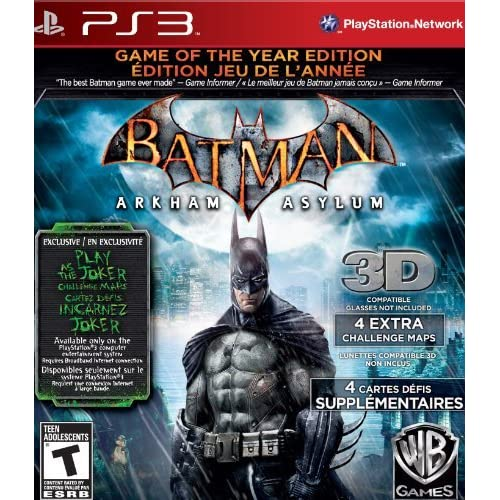Batman: Arkham Asylum Game Of The Year Edition For PlayStation 3 PS3