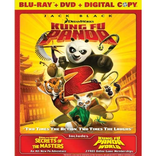 Kung Fu Panda 2 / Secrets Of The Masters Two-Disc Blu-Ray/dvd Combo On Blu-Ray W