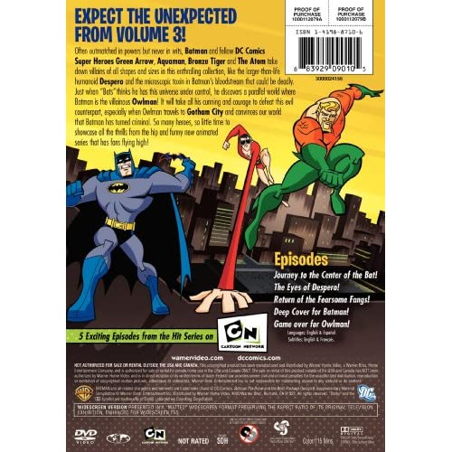 Image 3 of Batman: The Brave And The Bold: Volume Three On DVD with Diedrich