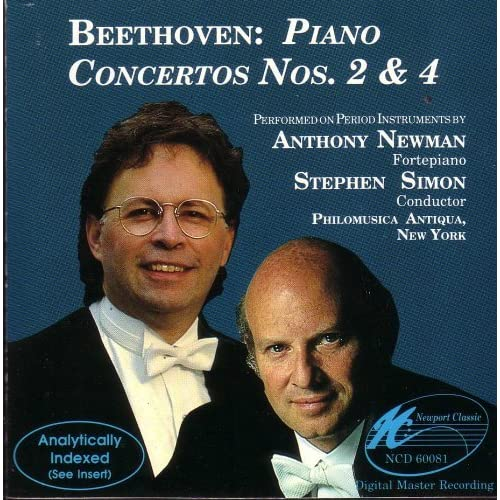 Image 0 of Beethoven: Piano Concertos Nos 2 & 4 By Anthony Newman Piano Stephen Simon Condu