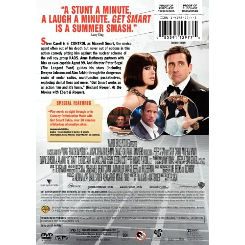 Image 1 of Get Smart Single-Disc Widescreen Edition On DVD With Steve Carell