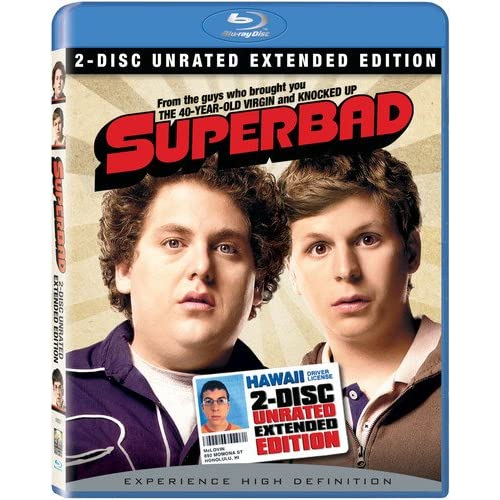 Image 0 of Superbad Two-Disc Unrated Extended Edition Blu-Ray On Blu-Ray With Jonah Hill 2