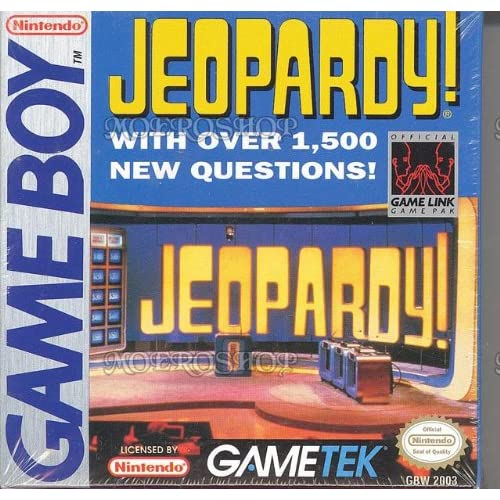 Jeopardy On Gameboy Trivia