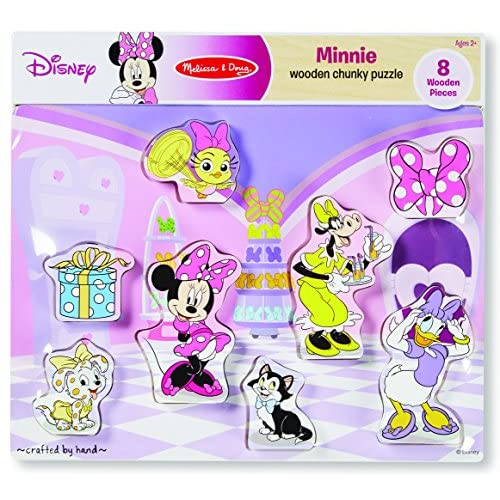 Melissa And Doug Disney Minnie Mouse And Friends Wooden Chunky Puzzle