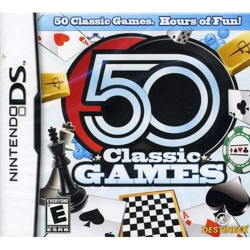 50 Classic Games For Nintendo DS DSi 3DS 2DS Board Games