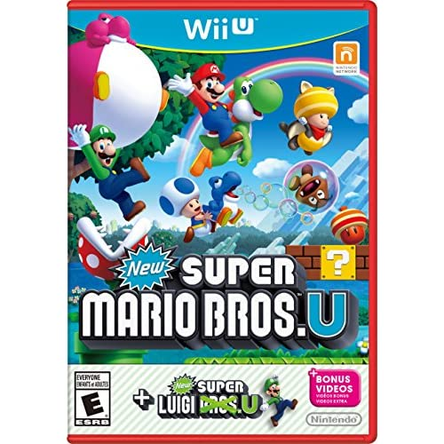 New Super Mario Bros U New Super Luigi U Wii U With Case