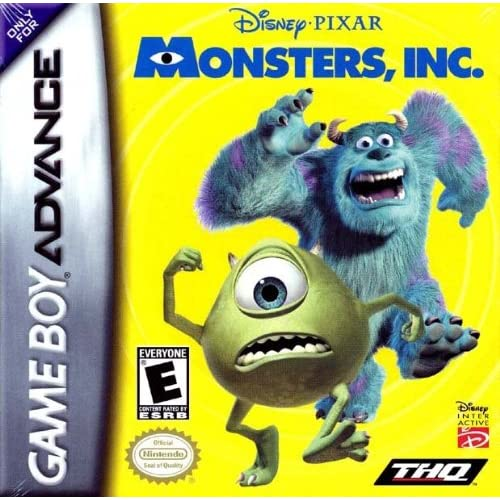 Disney/Pixar's Monsters Inc For GBA Gameboy Advance Action