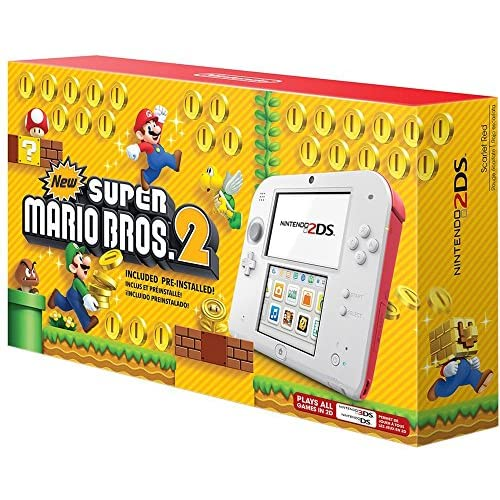 Nintendo 2DS New Super Mario Bros 2 Edition White Handheld NMG898