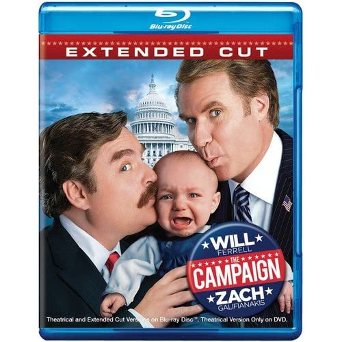 Image 0 of The Campaign Extended Cut Blu-Ray On Blu-Ray With Will Ferrell Comedy