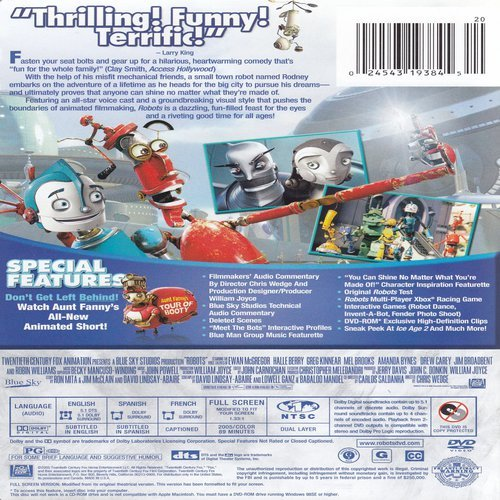Image 3 of Robots Full Screen Edition On DVD With Ewan Mcgregor