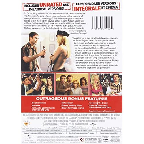 Image 3 of American Wedding Unrated/theatrical Versions On DVD With Jason Biggs