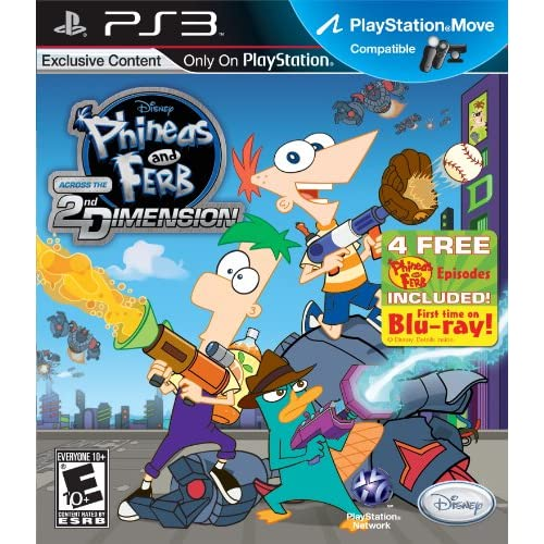 Image 0 of Phineas And Ferb: Across The 2nd Dimension For PlayStation 3 PS3 Disney