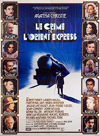 Murder on the Orient Express 1974 French Four Panel Poster