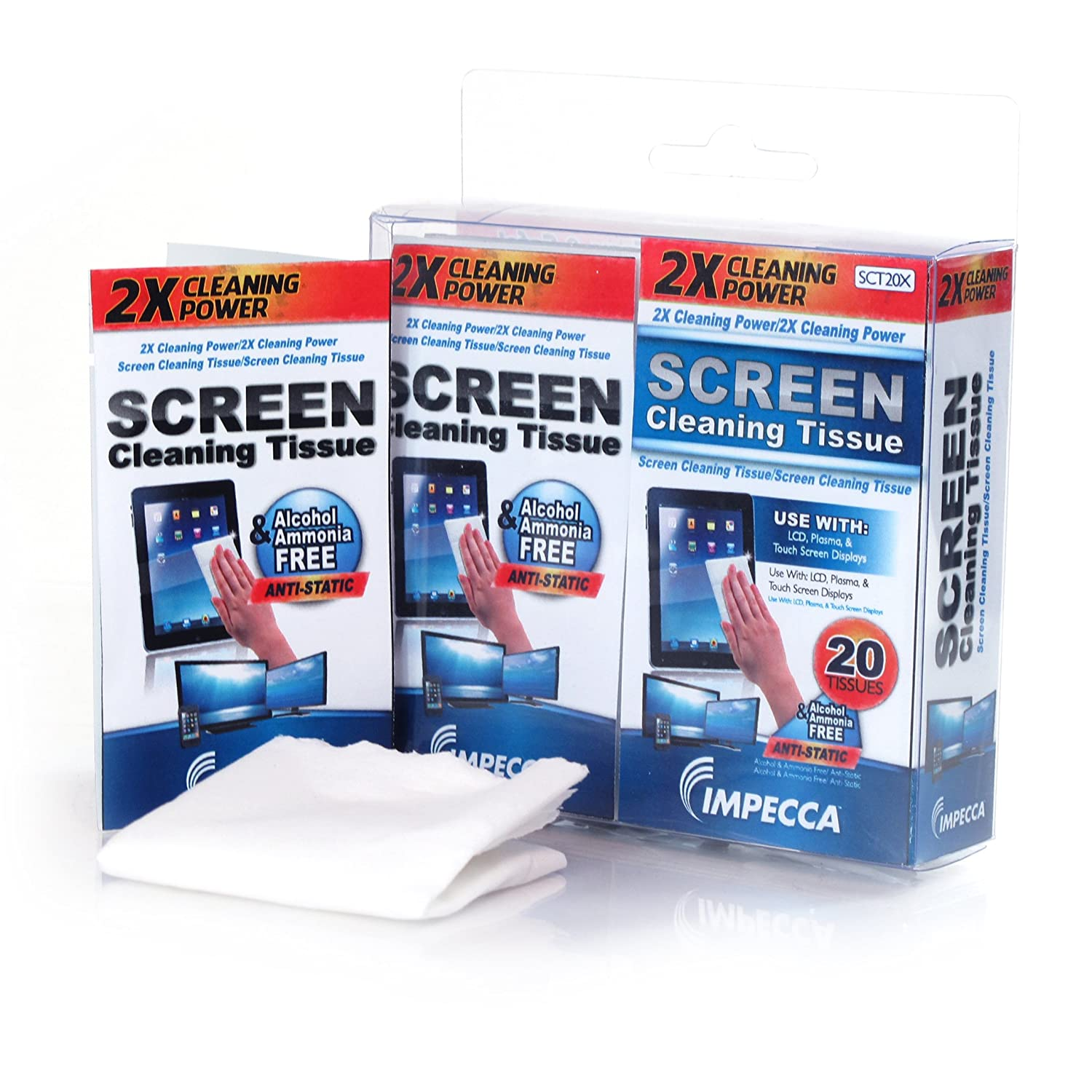 Image 0 of On-The-Go Screen Cleaning Wipes 20 Wipes Set