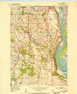 1951 Inver Grove Heights, MN USGS Historical Topographic Map