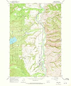1964 Darby, MT USGS Historical Topographic Map