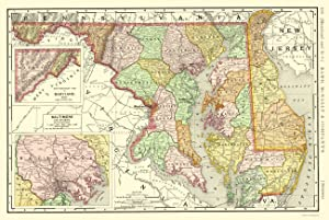 Maryland Map, 1893