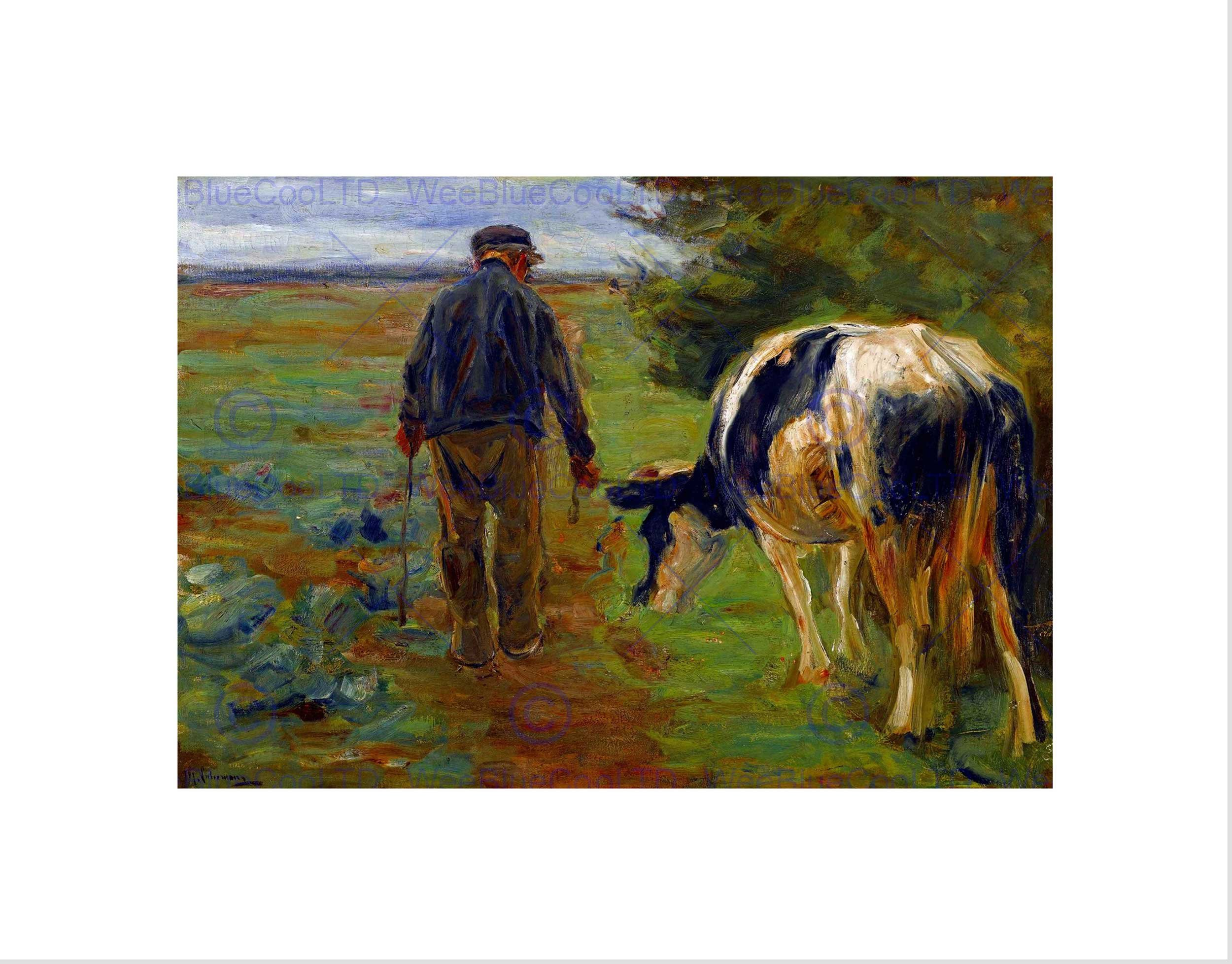 Farmer with cow