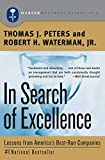 Book Cover: In Search Of Excellence by Robert H. Waterman