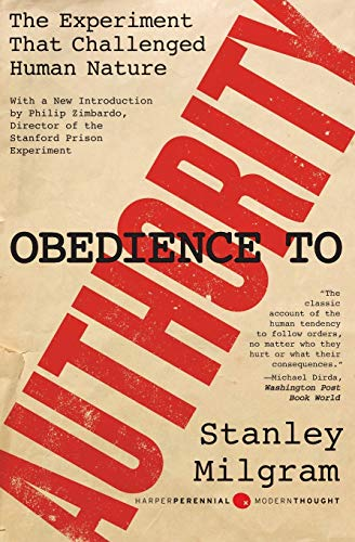 Obedience to authority, by Milgram, Stanley