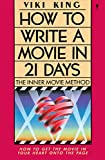How to Write a Movie in 21 Days - book cover picture
