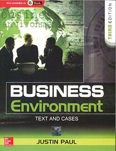 BUSINESS ENVIRONMENT: TEXT & CASES 3ED
