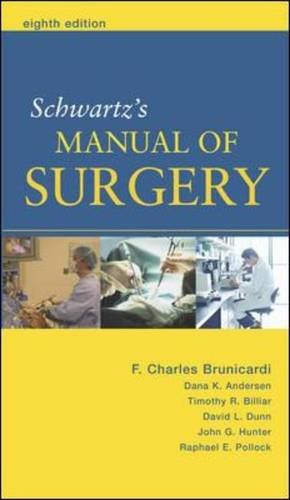 (EX)MANUAL OF SURGERY (SCHWARTZ)