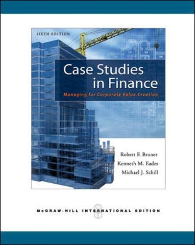 Solution Manual Case Studies In Finance Bruner