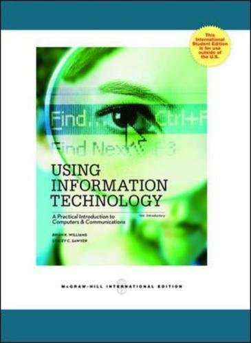Using Information Technology Introductor