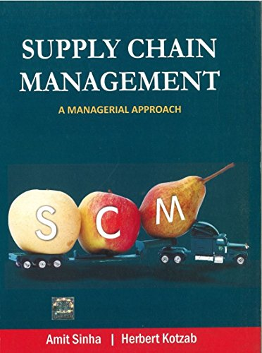 SUPPLY CHAIN MANAGEMENT: A MANAGERIAL APPROACH
