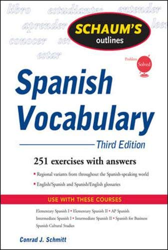 Schaum's Outline of Spanish Vocabulary, 3ed (Schaum's Outlines)