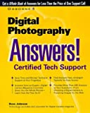 Digital Photography: Answers! Certified Tech Support (Osborne's Answers Series) - book cover picture