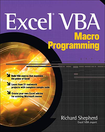 Book cover for Excel VBA Macro Programming