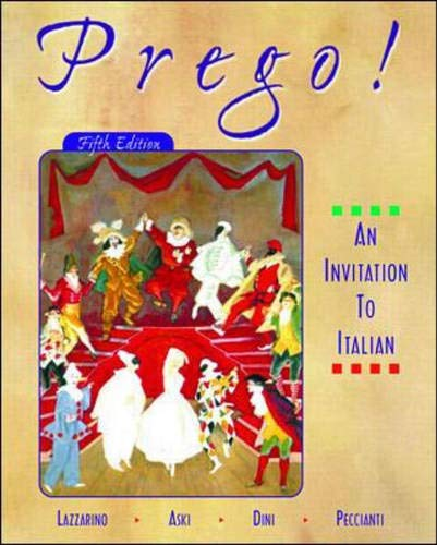 An Invitation to Italian Student Audio Cd Program Prego