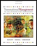 Buy Transnational Management: Text and Cases from Amazon